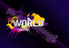 World word vector illustration Stock Photo