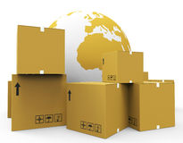 World Worldwide Means Globalisation Freight And Worldly Stock Photo