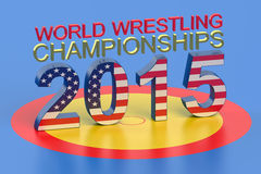 World Wrestling Championship 2015 Las Vegas concept. World Wrestling Championship 2015 Las Vegas USA concept Royalty Free Stock Photo