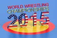 World Wrestling Championship 2015 Las Vegas concept. World Wrestling Championship 2015 Las Vegas USA concept Stock Illustration