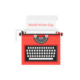 World writer day with red typewriter Royalty Free Stock Images