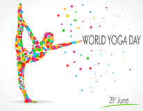 World Yoga Day vector illustration, white background Stock Photography