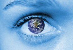 The world in your eye Royalty Free Stock Photography