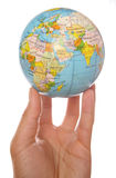 World at your finger tips stock images