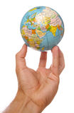 World at your finger tips stock photos