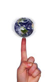 World at your finger tips Royalty Free Stock Photo