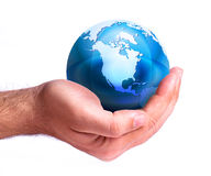 The world in your hand royalty free illustration