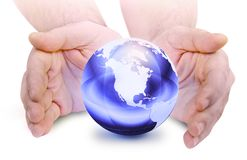 The world in your hand Stock Photography