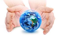 The world in your hand Royalty Free Stock Photos