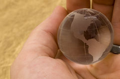 The World in Your Hands Royalty Free Stock Photography