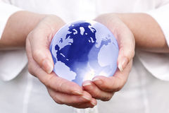 World in your hands Stock Images