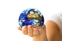 World in your hands 2 Stock Photos