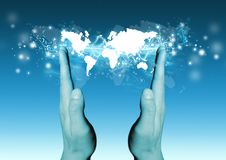 World in your Hands Stock Photos