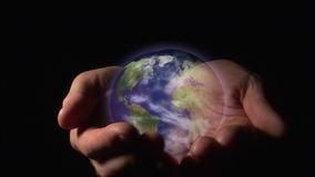 World in your hands 2 stock footage