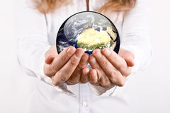 The world is in your hands Royalty Free Stock Photo