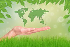 World in your hands Stock Photography