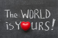 World is yours Royalty Free Stock Photos