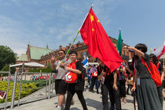 World Youth Day 2016 - Pilgrims from China in the Sanctuary of Divine Mercy in Lagiewniki. Cracow Stock Photos