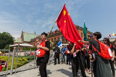 World Youth Day 2016 - Pilgrims from China in the Sanctuary of Divine Mercy in Lagiewniki. Cracow Royalty Free Stock Photo