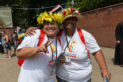 World Youth Day 2016 - Pilgrims from Cook Island in the Sanctuary of Divine Mercy in Lagiewniki Royalty Free Stock Images