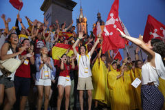World Youth Day 2016 -  pilgrims Stock Image