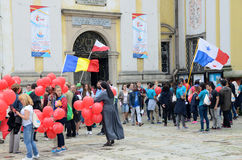 World Youth Day 2016 in Trzebnica Stock Images