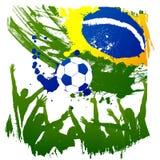 Worldcup Brésil de vecteur Images libres de droits
