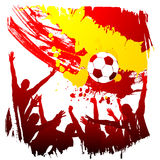 Worldcup Espagne de vecteur Image stock