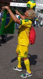 Worldcup van Brazilië Stock Foto's
