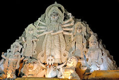 Worldest största Durga Idol Arkivfoto