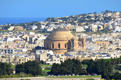 Worldfamous cathedral Mosta ,Malta island Royalty Free Stock Photo
