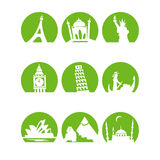 Worldlandmarks1green Images stock