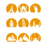Worldlandmarks1orange Stock Images