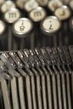 Worldly-klok skrivmaskin royaltyfri bild