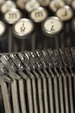 Worldly-wise typewriter royalty free stock image