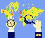 Worldmap, πυξίδα, καπετάνιος Στοκ εικόνες με δικαίωμα ελεύθερης χρήσης