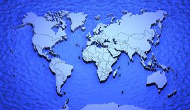 Worldmap Royalty Free Stock Image