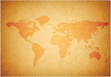 Worldmap Fotografie Stock
