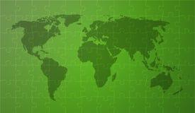 绿色worldmap 向量例证