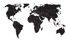 Worldmap Fotografia Stock