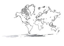 Worldmap Royalty Free Stock Photo