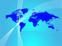 Worldmap background Stock Image