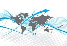 Worldmap background Royalty Free Stock Image
