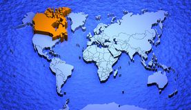 Worldmap_canada Stock Photo