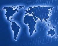 Worldmap de Digitas Fotografia de Stock
