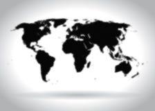 Worldmap de semitono ilustración del vector