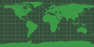 Worldmap in green Stock Photo