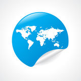 Worldmap icon Royalty Free Stock Image