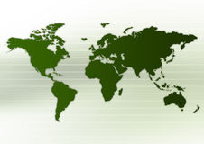 Worldmap Layout Stock Photo