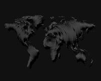 Worldmap noir d'isolement de couleur des lignes fond, illustration de vecteur de la terre Photographie stock libre de droits